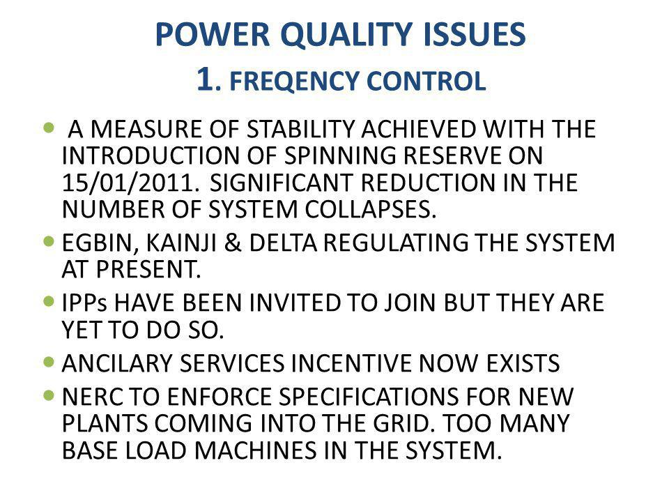 POWER QUALITY ISSUES 1.