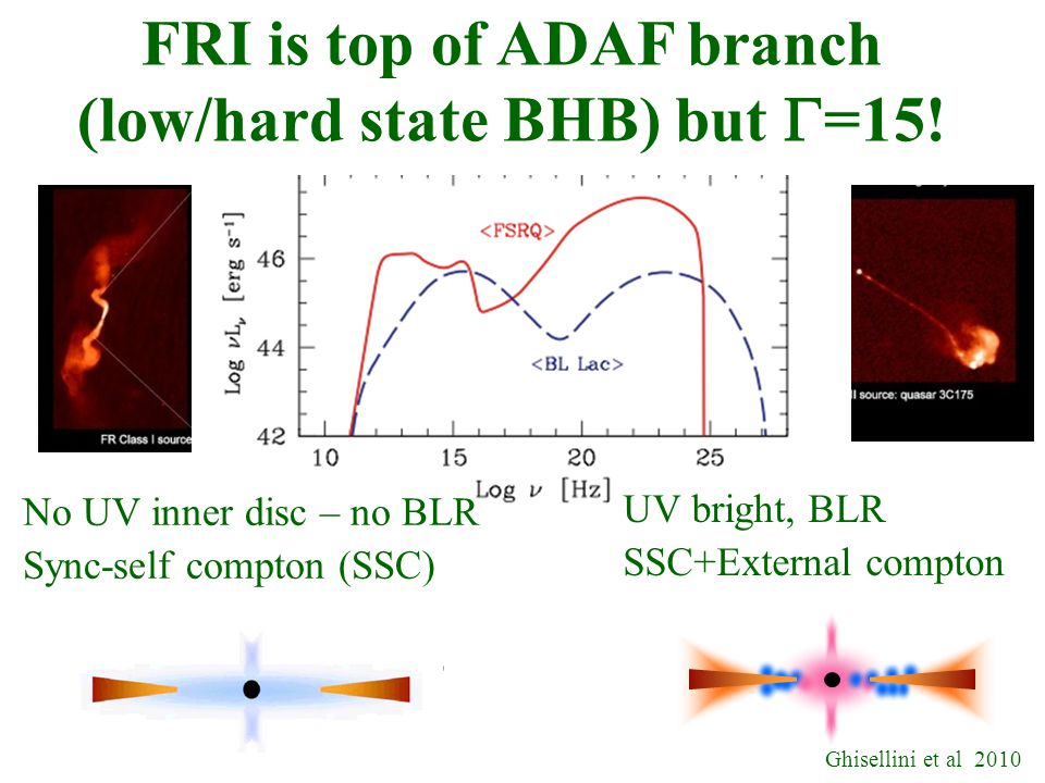 FRI is top of ADAF branch (low/hard state BHB) but  =15.