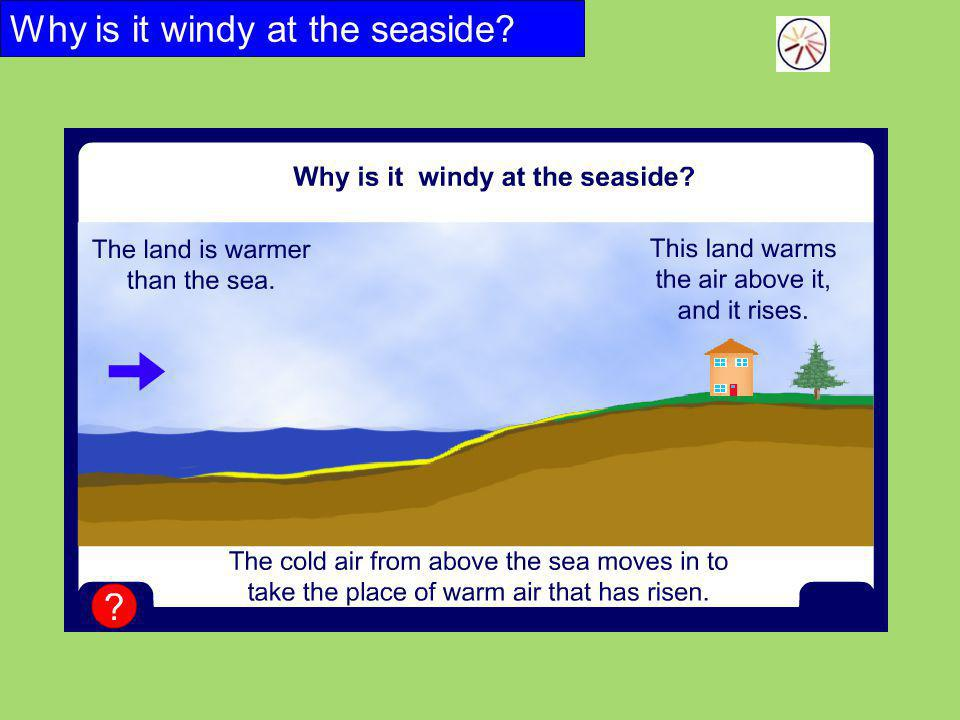 Why is it windy at the seaside?