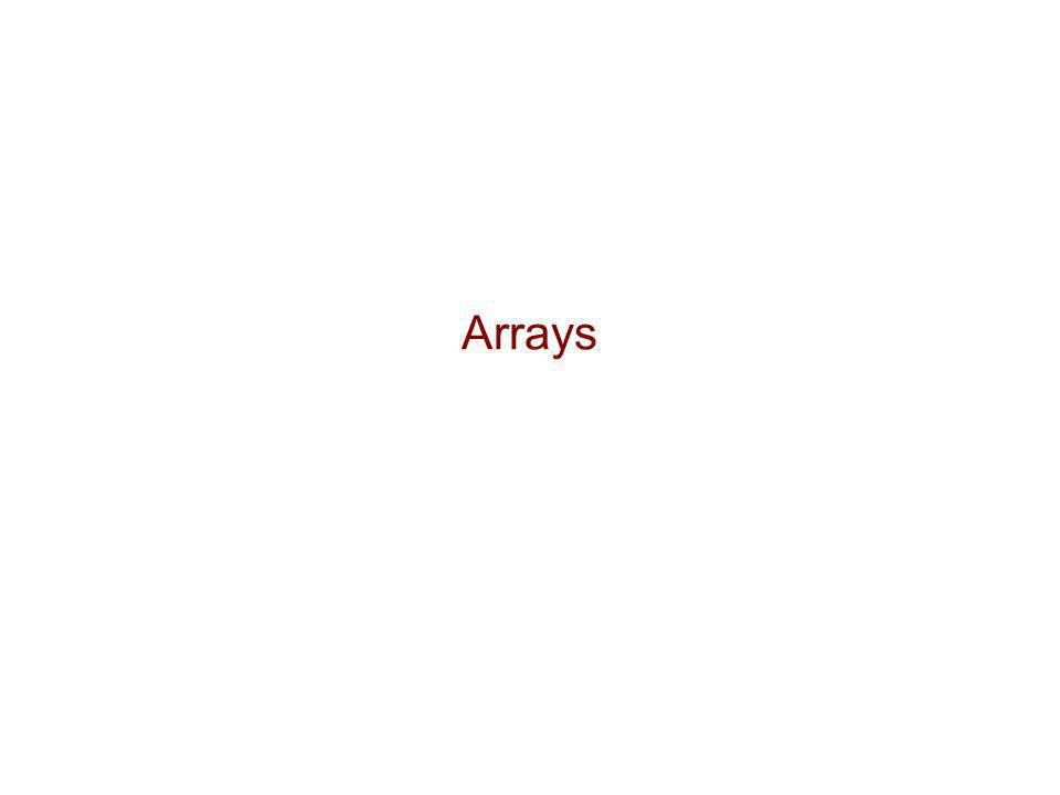  Array: a sequence of indexed components with the following properties:  array size is fixed at the time of array's construction  int[] numbers = new int [10];  array elements are placed contiguously in memory  address of any element can be calculated directly as its offset from the beginning of the array  consequently, array components can be efficiently inspected or updated in O(1) time, using their indices  randomNumber = numbers[5];  numbers[2] = 100;