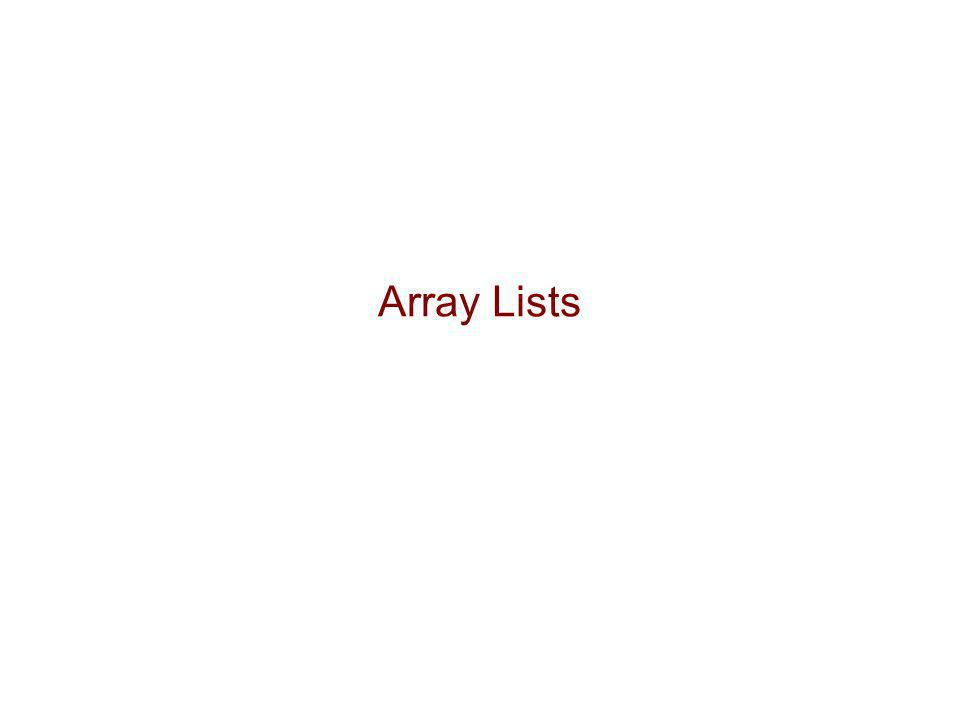 The Array List ADT (§6.1)  The Array List ADT extends the notion of array by storing a sequence of arbitrary objects  An element can be accessed, inserted or removed by specifying its rank (number of elements preceding it)  An exception is thrown if an incorrect rank is specified (e.g., a negative rank)