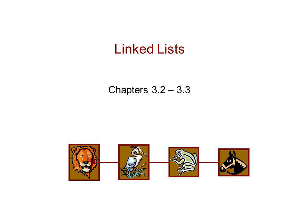 Singly Linked List (§ 3.2)  A singly linked list is a concrete data structure consisting of a sequence of nodes  Each node stores  element  link to the next node next elem node ABCD