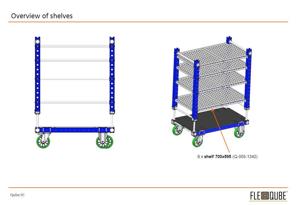 Qube it! Overview of shelves 8 x shelf 700x595 (Q-005-1342)