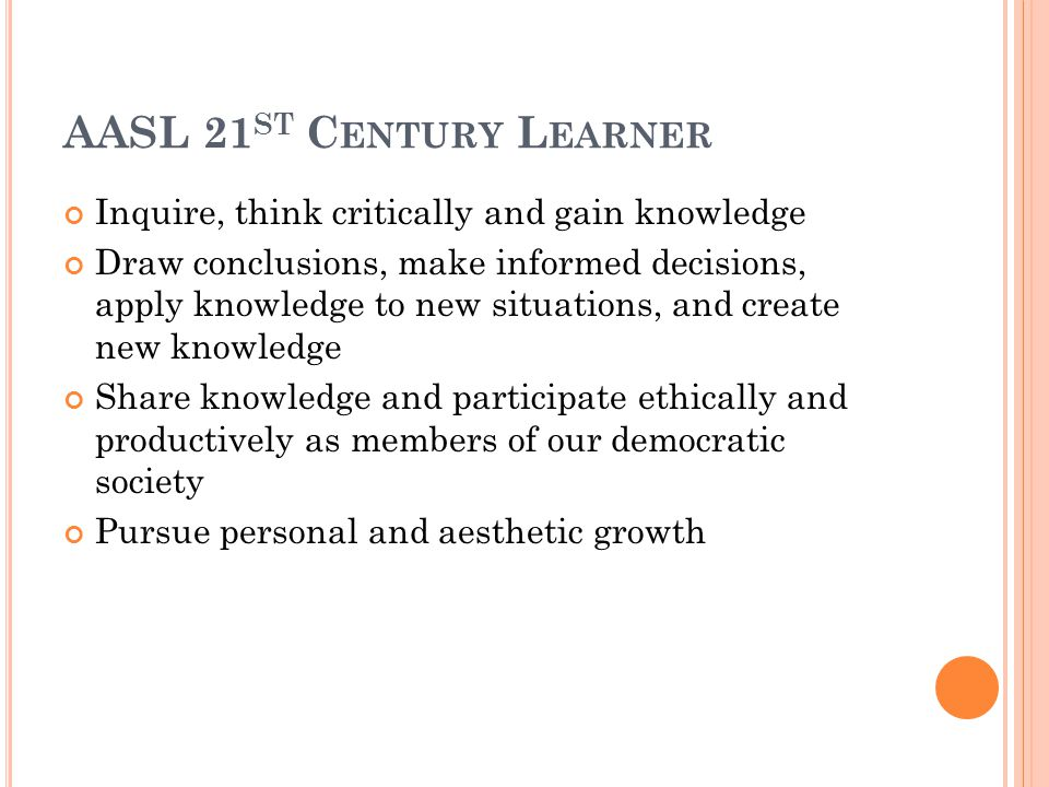 R EFRESHED MEMO S TANDARDS FOR I NFORMATION & T ECHNOLOGY L ITERACY Inquiry, Research and Problem Solving Expanding Literacies Technology Use and Concepts Ethical Participation in a Global Society