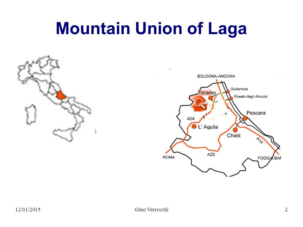 12/01/2015Gino Verrocchi2 Mountain Union of Laga