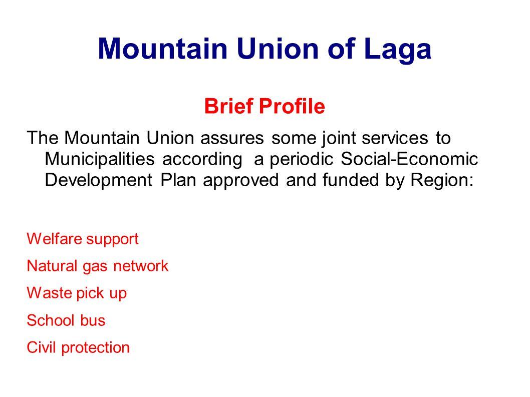Mountain Union of Laga Brief Profile Staff: Administrative & Finance 3 Envinronment office1 Technical Office2