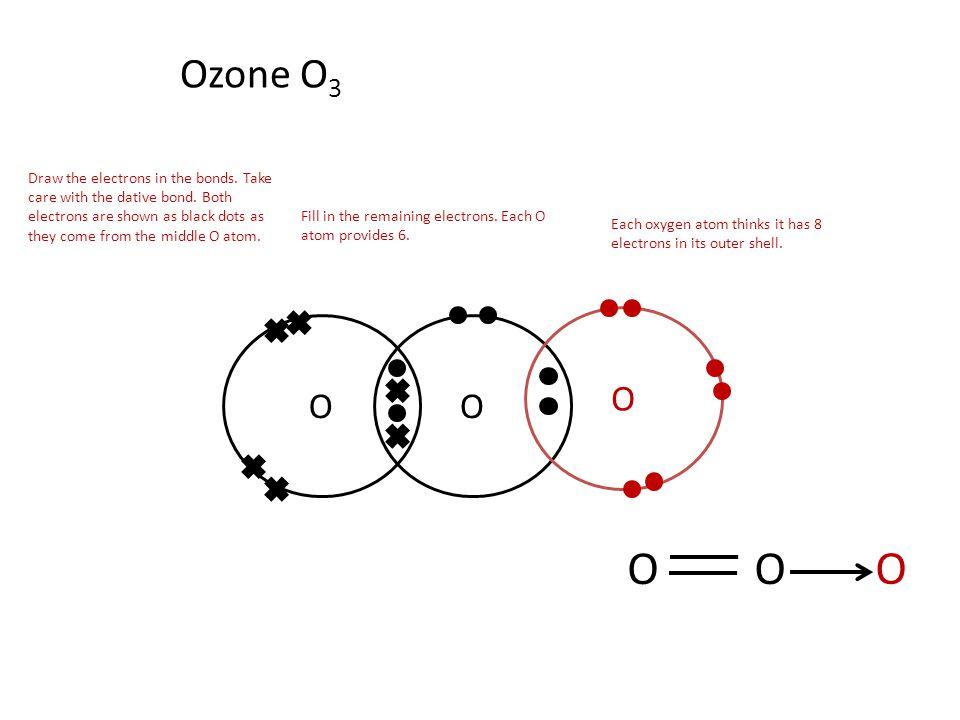 Ozone Structural Formula Ozone O 3 OO O OO O Draw the