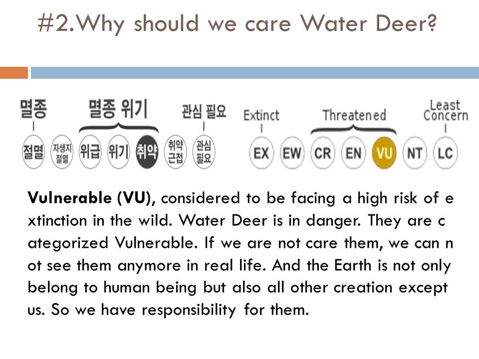 #2.Why should we care Water Deer.