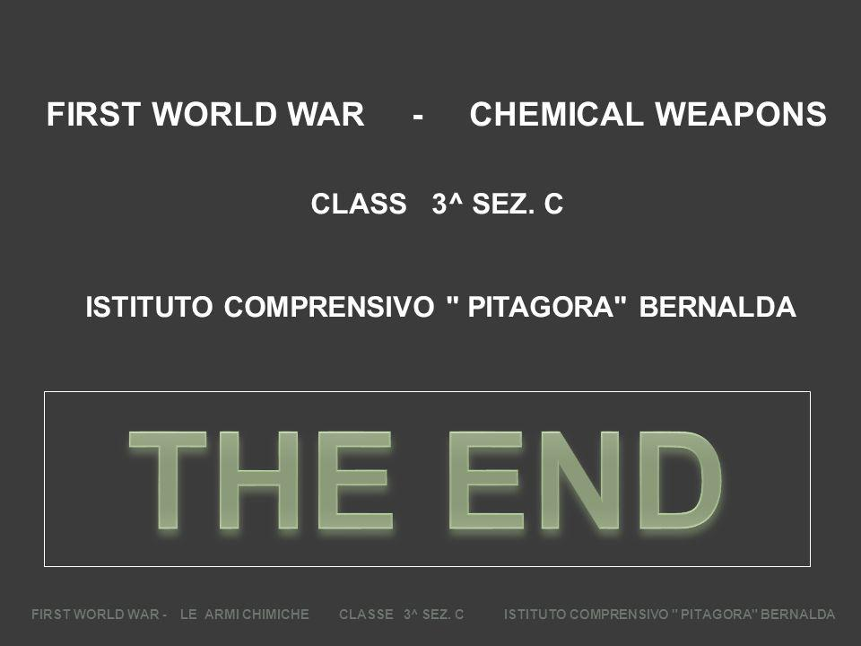 FIRST WORLD WAR - CHEMICAL WEAPONS CLASS 3^ SEZ. C ISTITUTO COMPRENSIVO