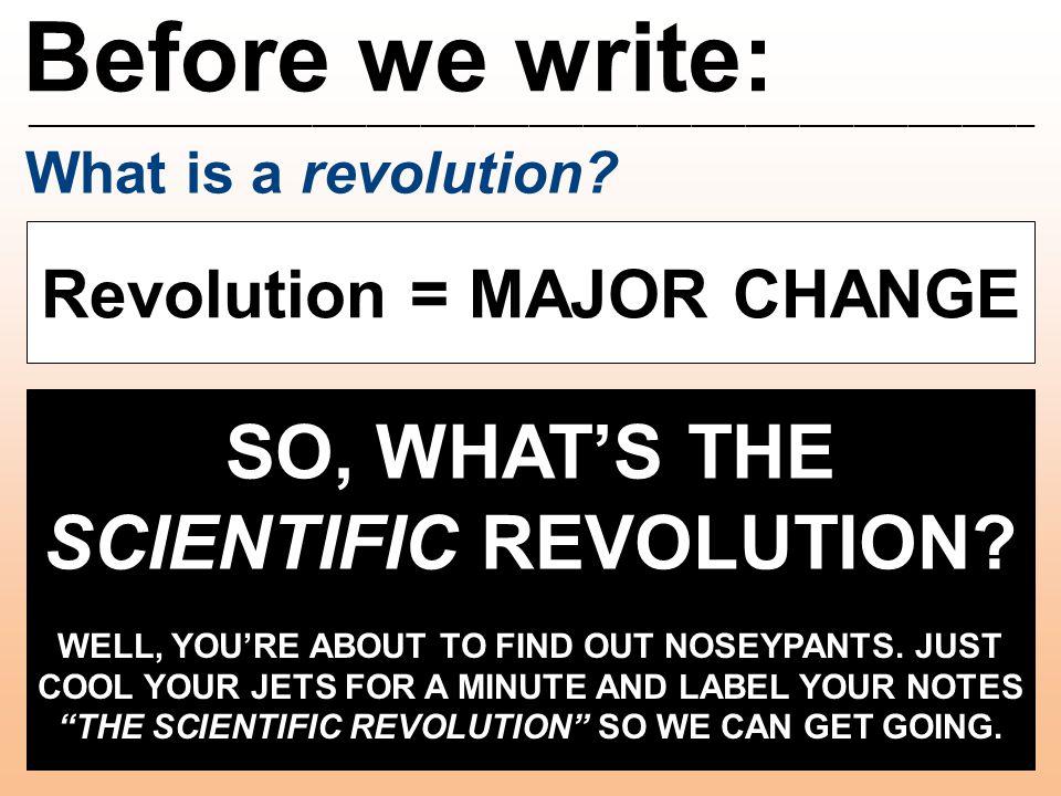Scientific Revolution: ________________________________________________________ Nicolaus Copernicus What did I contribute.