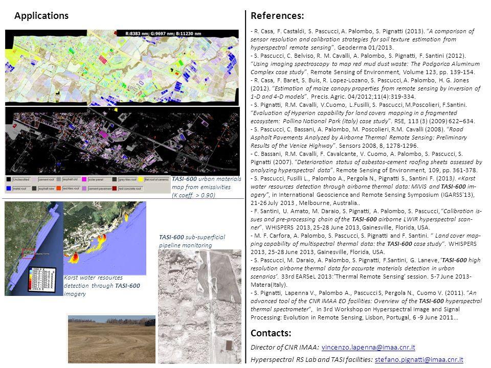 References: - R. Casa, F. Castaldi, S. Pascucci, A.
