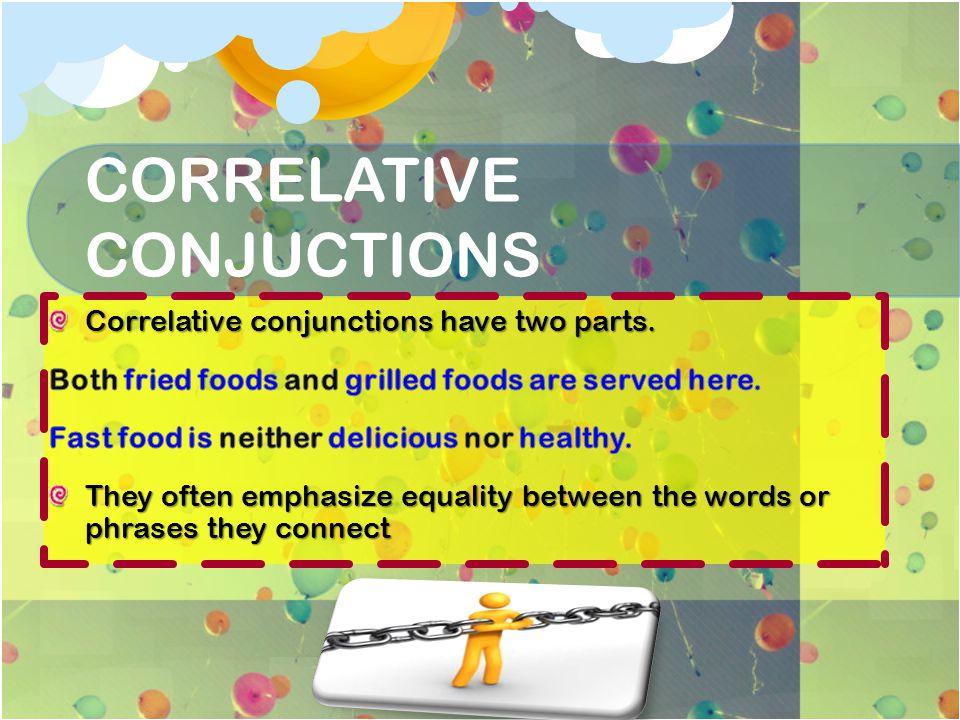 CORRELATIVE CONJUCTIONS