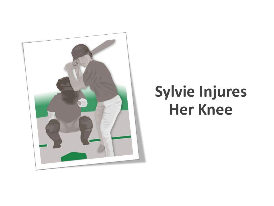 Sylvie Injures Her Knee