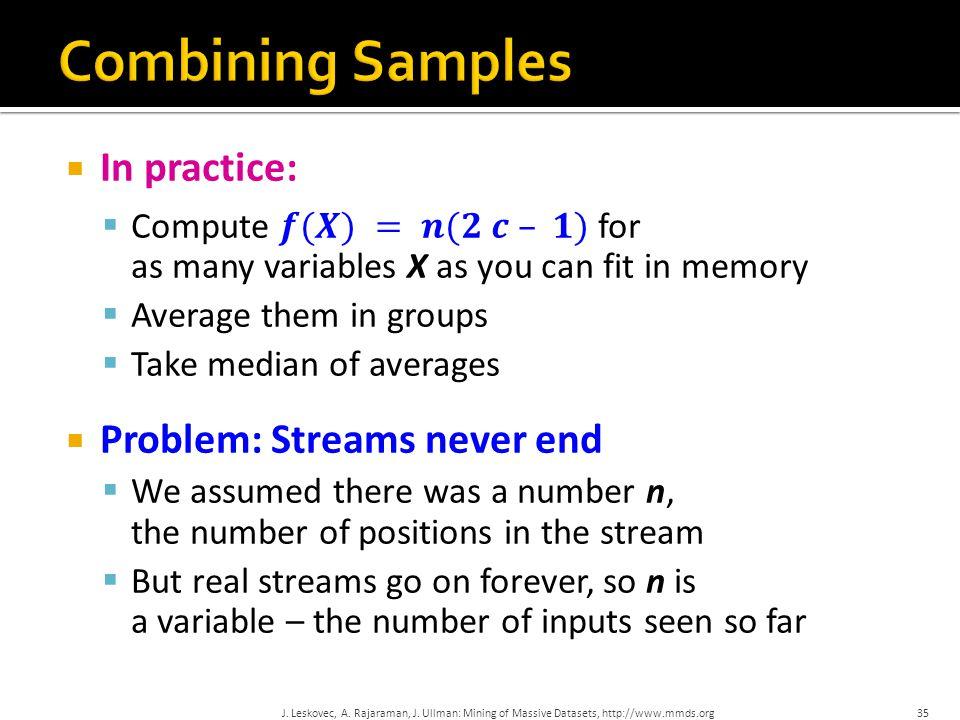 35 J. Leskovec, A. Rajaraman, J. Ullman: Mining of Massive Datasets, http://www.mmds.org