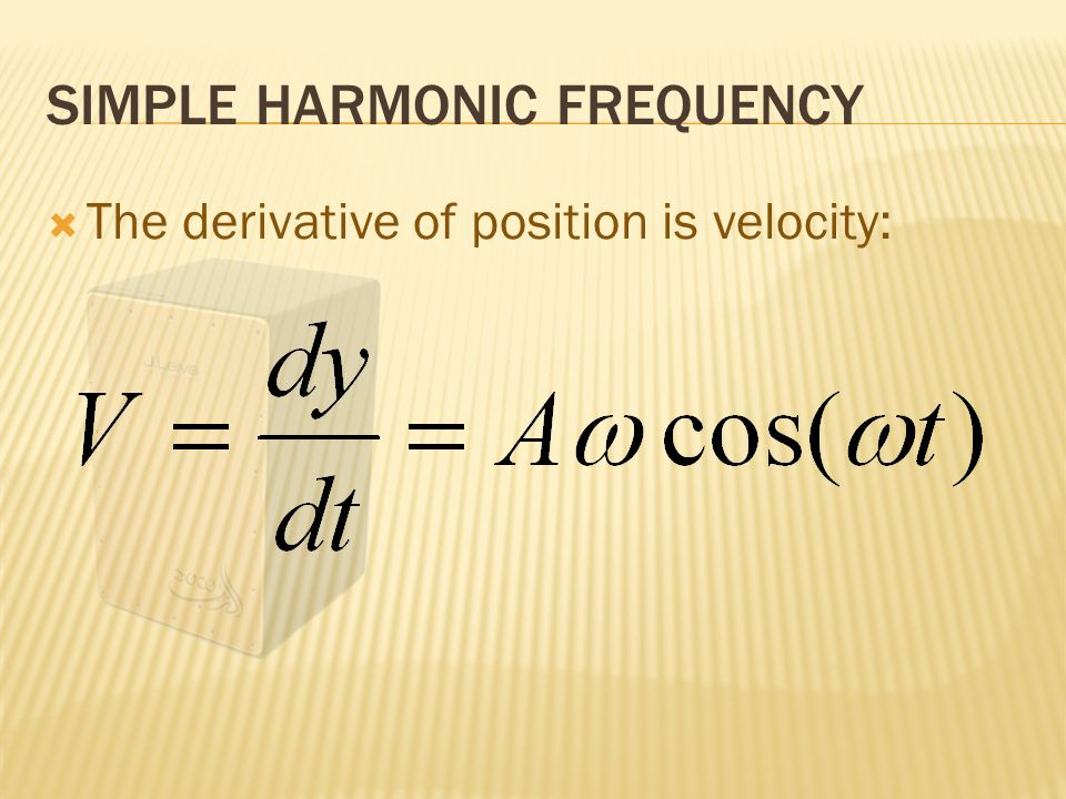  Frequency is defined as 1 / period.