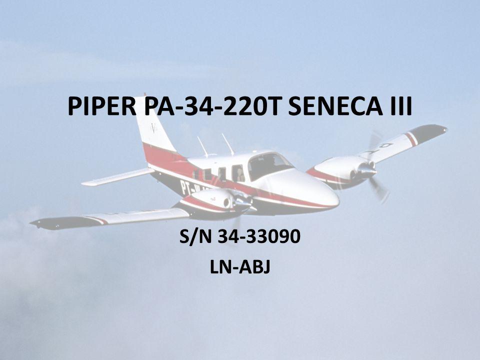 PIPER PA-34-220T SENECA III S/N 34-33090 LN-ABJ