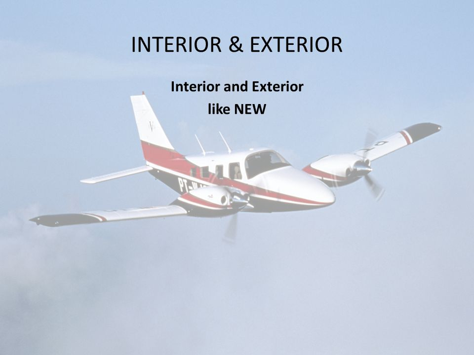 INTERIOR & EXTERIOR Interior and Exterior like NEW