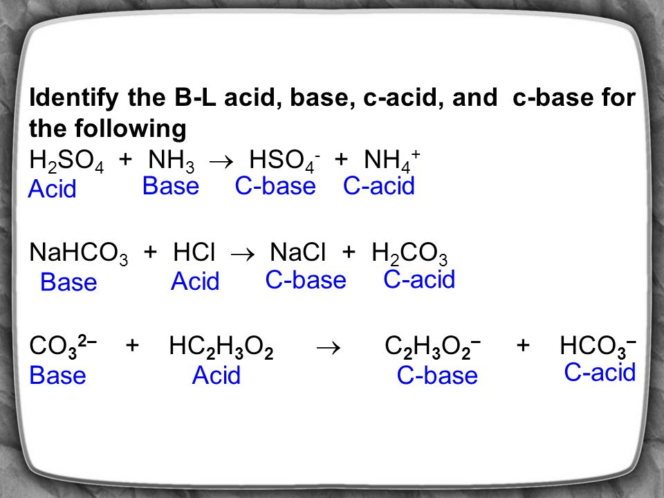 Exercise Questions 16.28 Fill in the missing information [H+][OH-]pHpOHAcid/Base 5.15 7.85 1.8 x 10 -6 M 9.2 x 10 -12 M 7.1 x10 -6 8.85 Acid 1.4 x10 -9 1.4 x10 -8 7.1 x10 -7 6.15 Acid 5.6 x10 -9 8.255.74 Acid 1.1 x10 -3 2.9611.0Acid