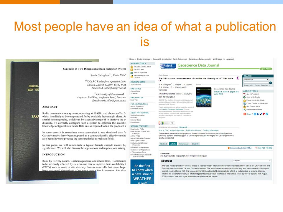 Most people have an idea of what a publication is