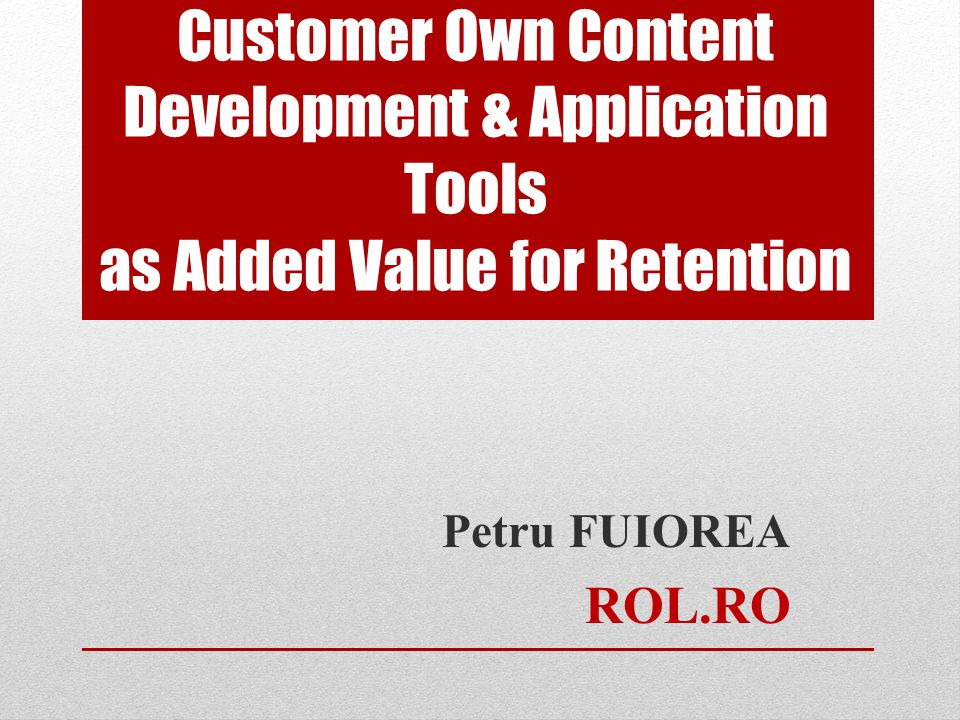 Study Case – What was implemented Interactive Platform for Internet Access customers, as Added Value Videoconferinta Felicitari.