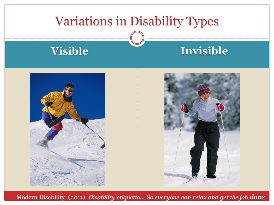 Visible Invisible Variations in Disability Types Modern Disability.