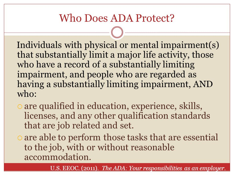 Who Does ADA Protect.
