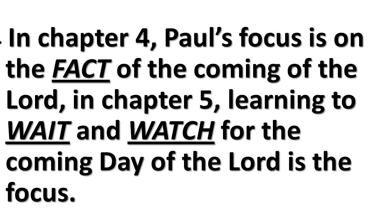 Be Prepared!!
