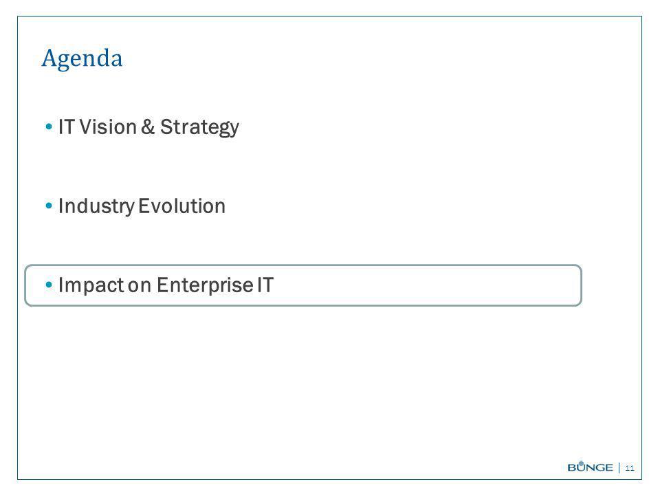 Agenda IT Vision & Strategy Industry Evolution Impact on Enterprise IT 11