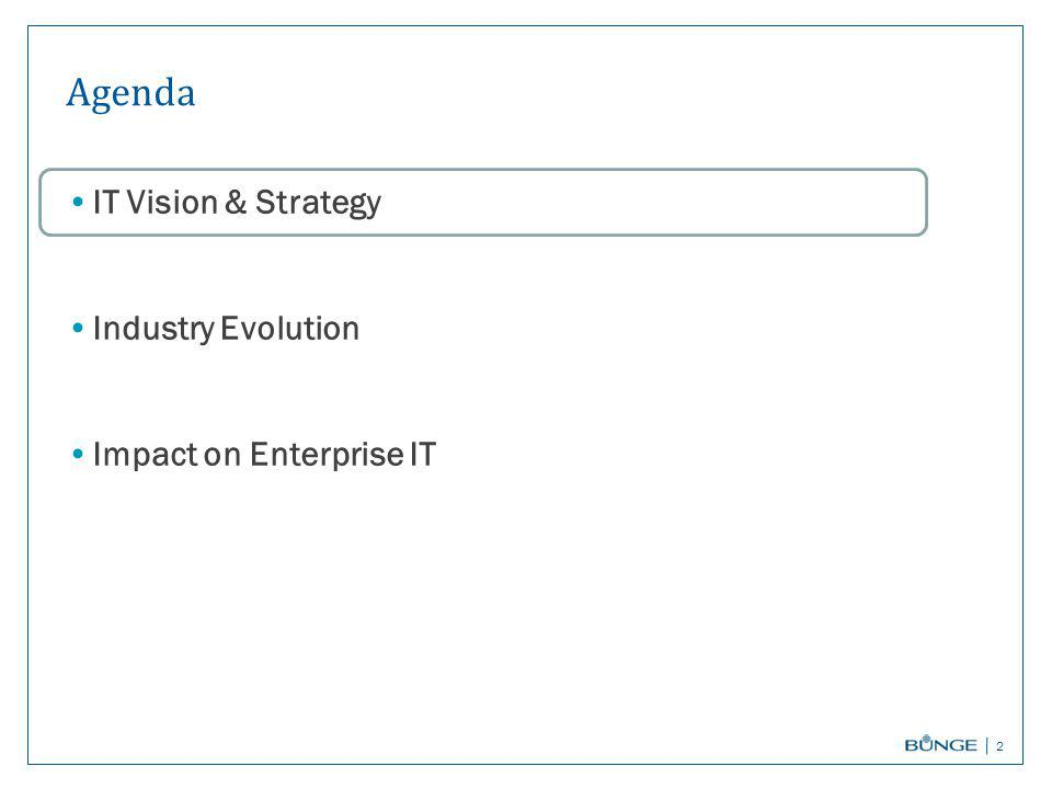 Agenda IT Vision & Strategy Industry Evolution Impact on Enterprise IT 2