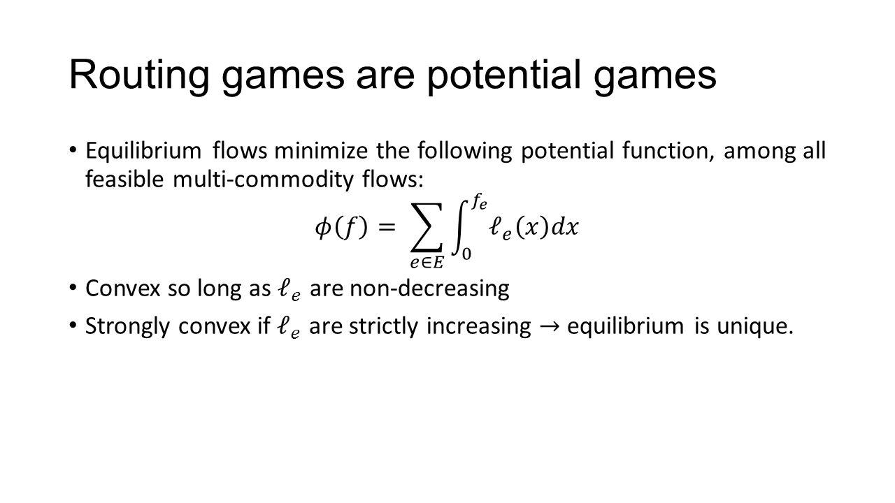 Manipulating equilibrium flow (classic problem)