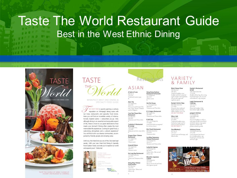 Taste The World Restaurant Guide Best in the West Ethnic Dining