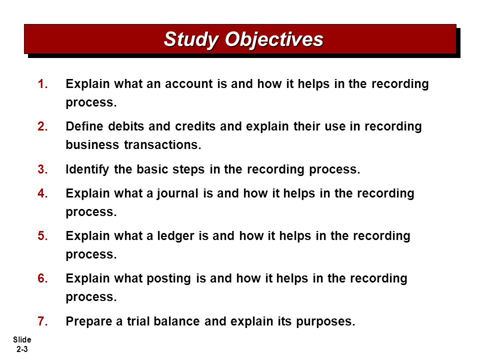 Slide 2-34 The Recording Process Illustrated SO 6 Illustration 2-27