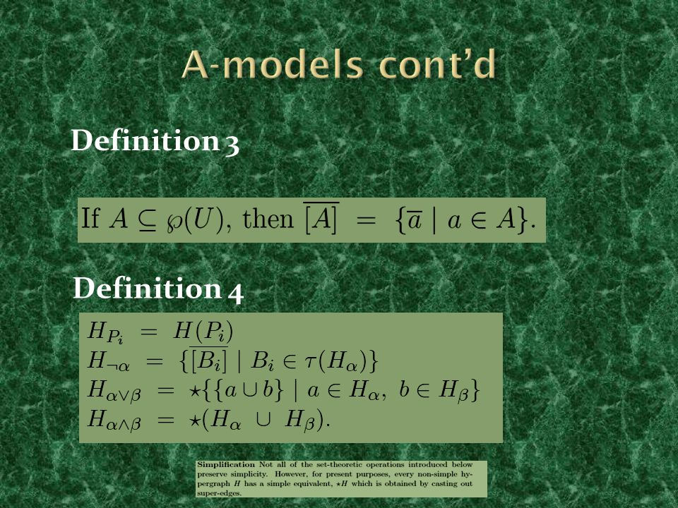 Definition 3 Definition 4