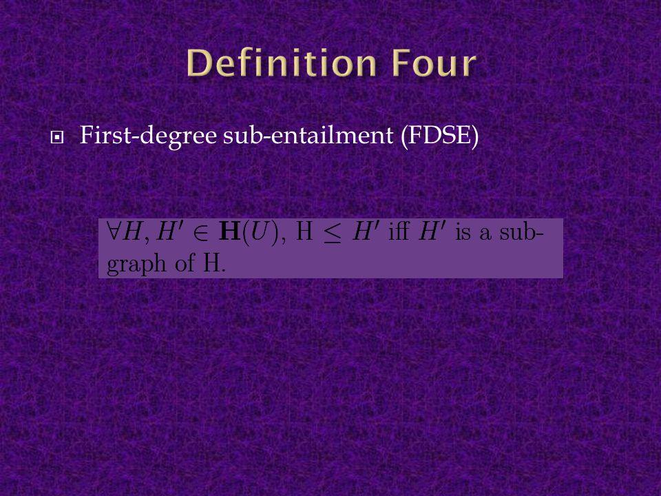  First-degree sub-entailment (FDSE)