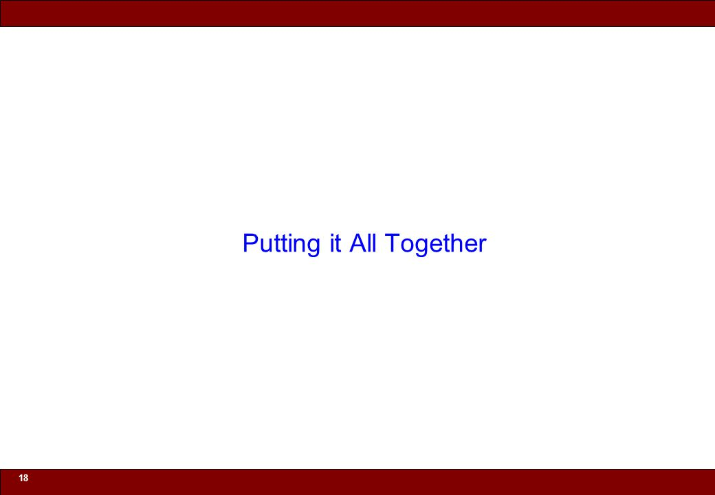 © 2010 Noah Mendelsohn 18 Putting it All Together