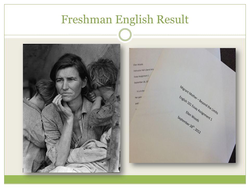 Freshman English Result