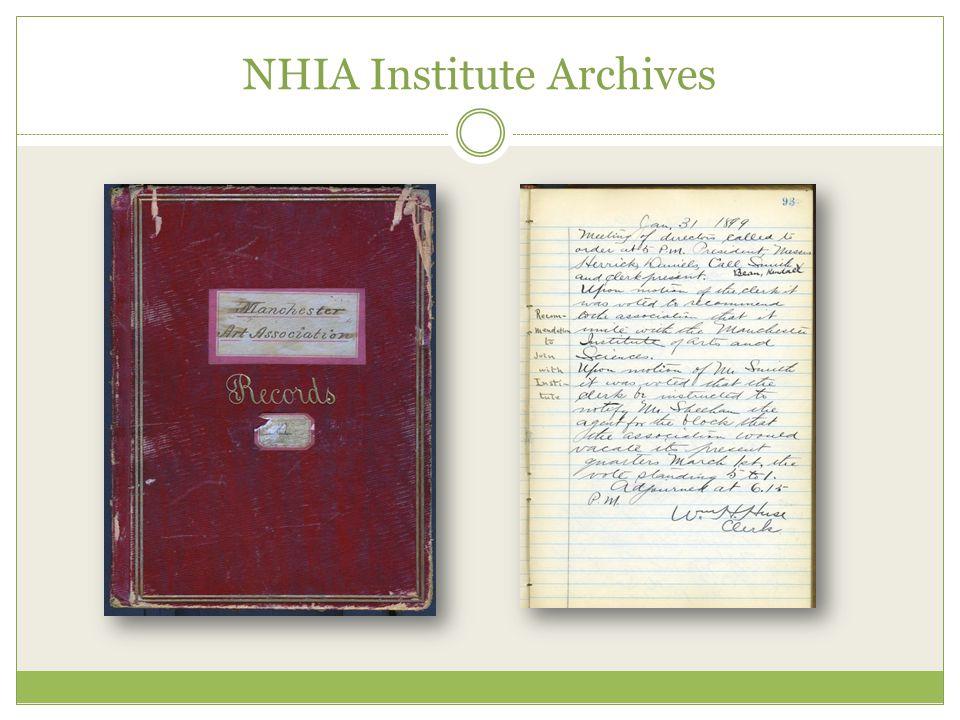 NHIA Institute Archives