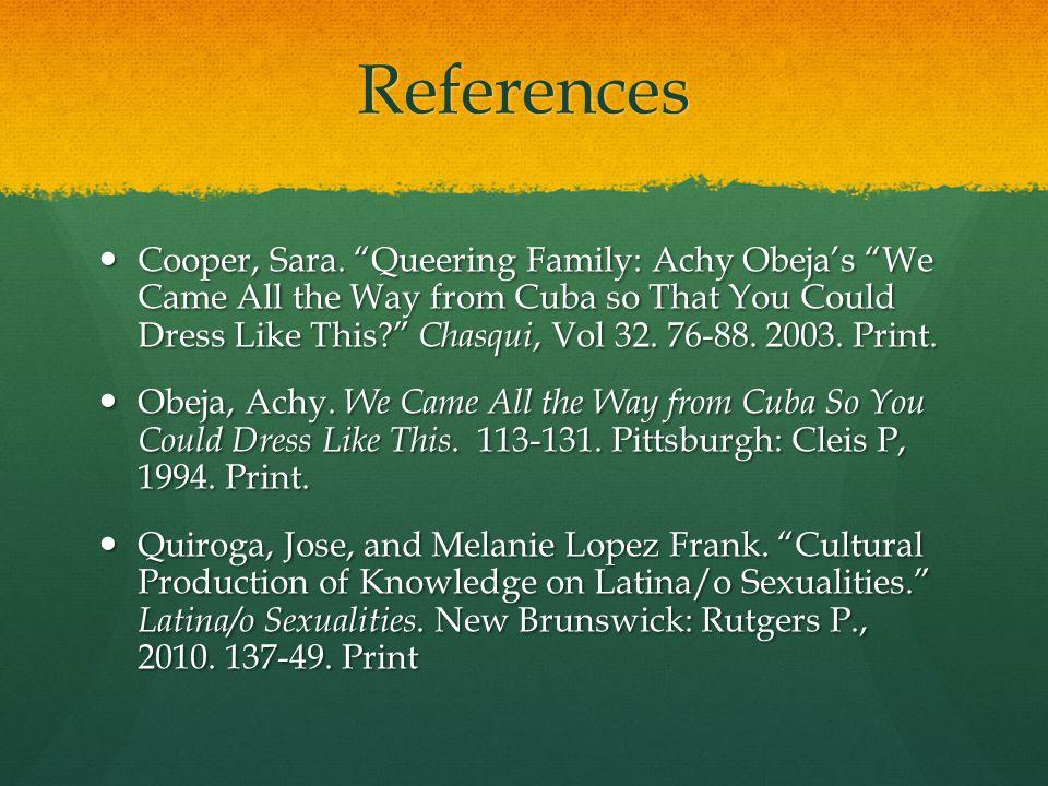 References Cooper, Sara.