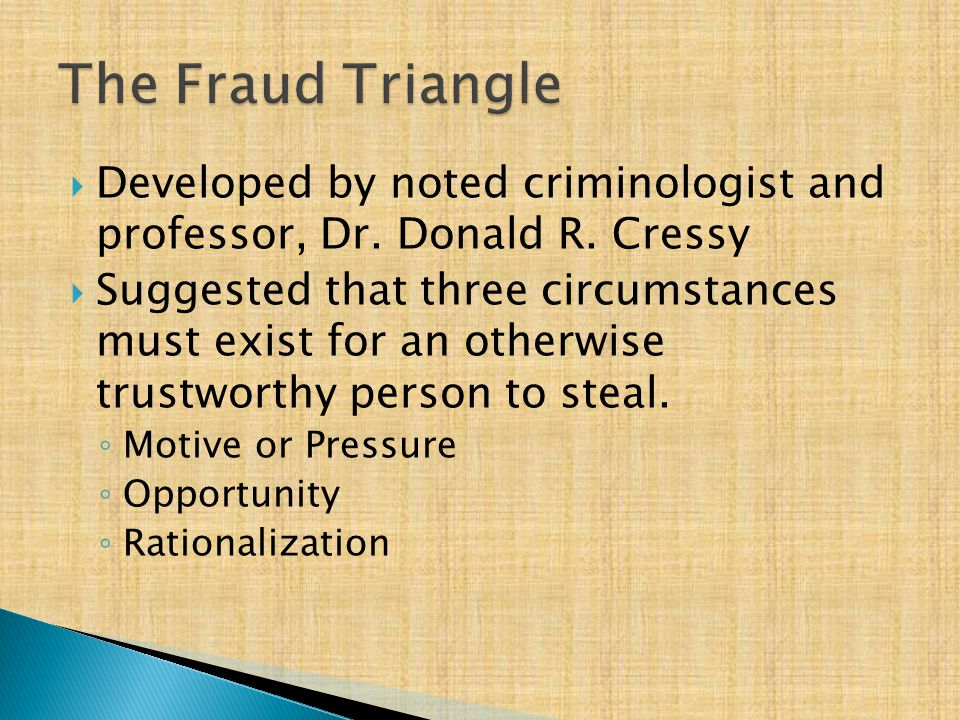  Developed by noted criminologist and professor, Dr.