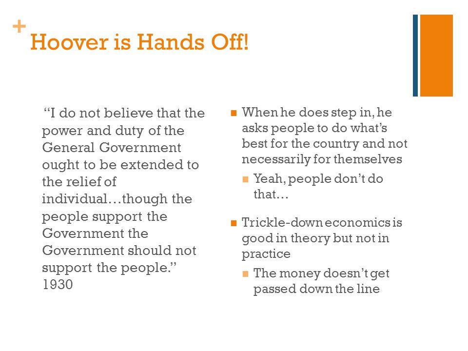 + Hoover is Hands Off.