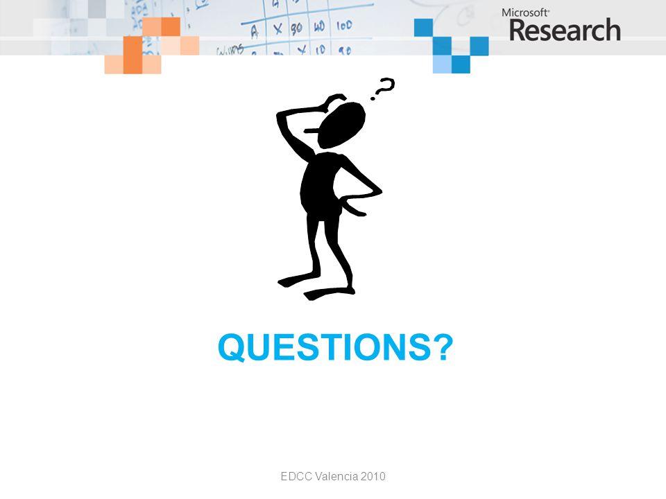 QUESTIONS? EDCC Valencia 2010