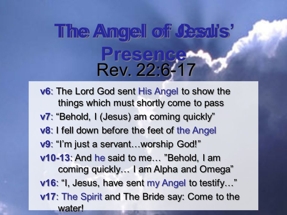 The Angel of God's Presence Rev.