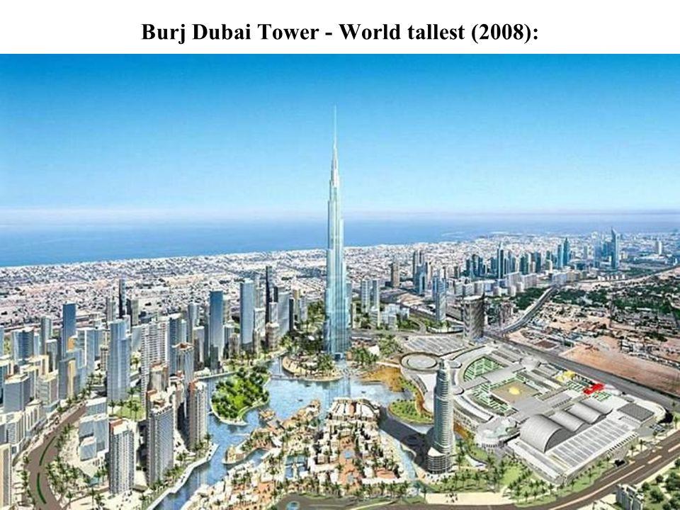 Burj Dubai Tower - World tallest (2008):