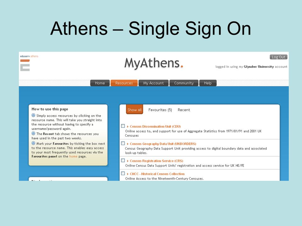 Athens – Single Sign On