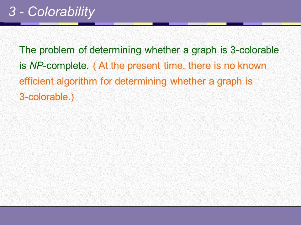 3 - Colorability