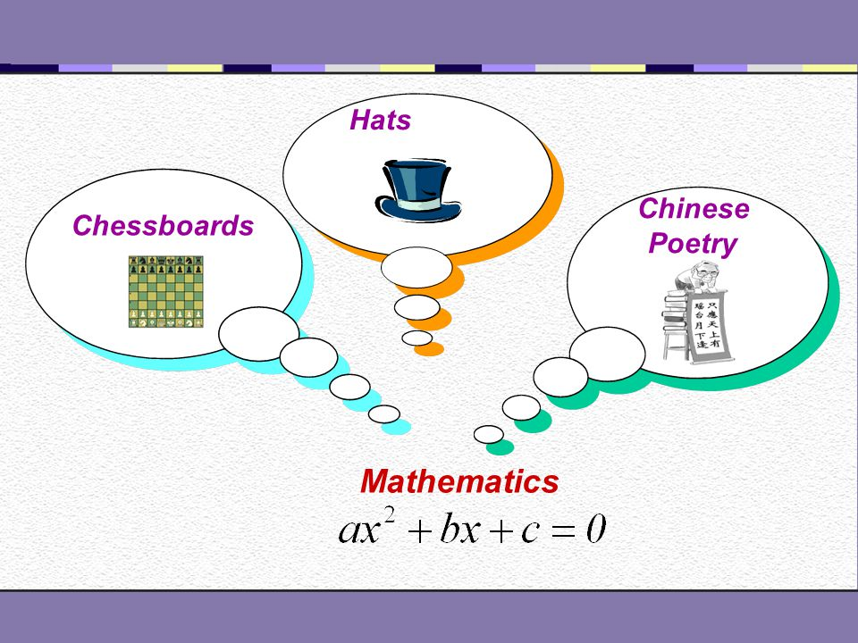 Hats Chinese Poetry Mathematics Chessboards
