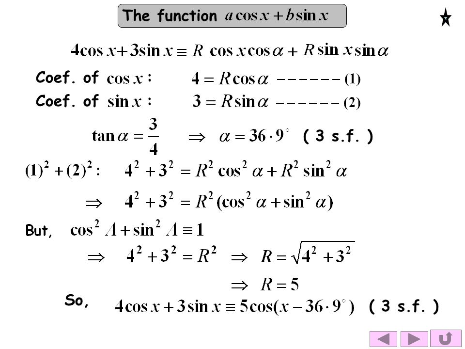 The function Coef. of : ( 3 s.f. ) So,