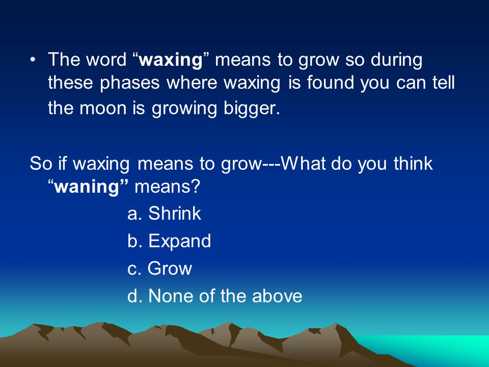 Ok so… Now that we know some fun facts lets talk about these cycles that the moon goes through.