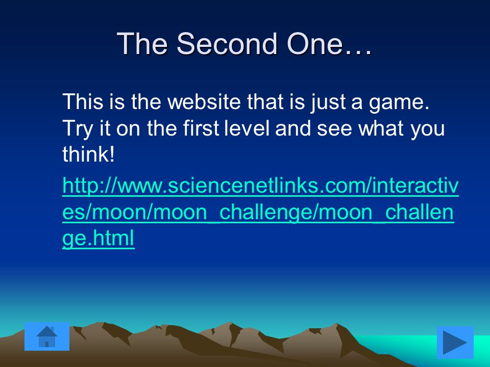 The First One… On this site move the mouse around and see the different moon phases.