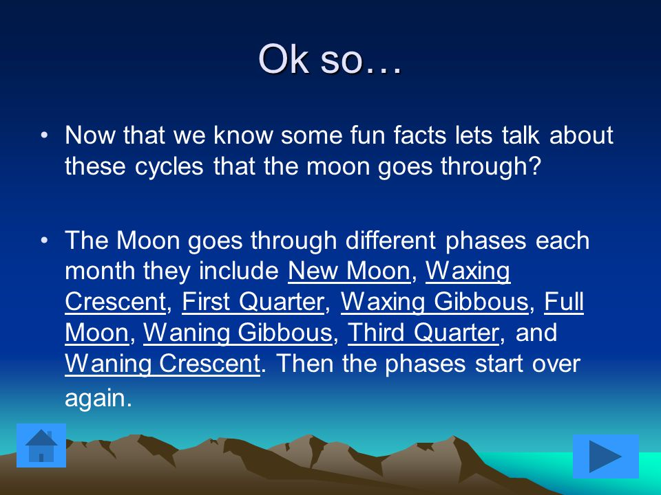 """Quick Fact # 3   We only see one side of the moon which we call the light side while the other that we do not see we call the """"dark side."""" While the"""